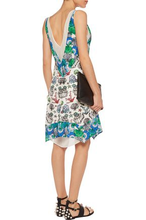 EMILIO PUCCI Printed silk-jacquard dress