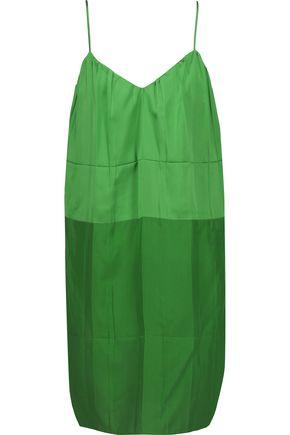 EMILIO PUCCI Pleated silk-blend satin mini dress
