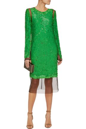 EMILIO PUCCI Sequined mesh dress