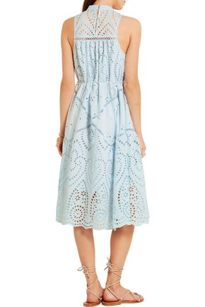 ZIMMERMANN Epoque broderie anglaise cotton midi dress