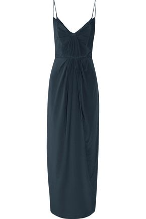ZIMMERMANN Gathered silk-satin maxi dress