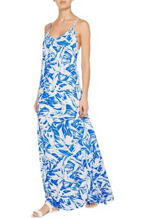 MELISSA ODABASH Angelina printed voile maxi dress
