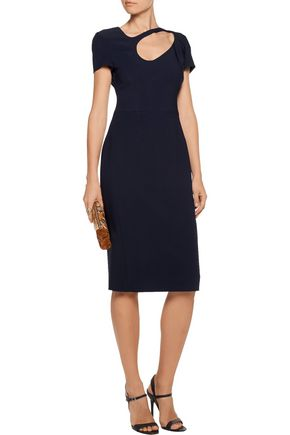 ANTONIO BERARDI Cutout stretch-crepe dress