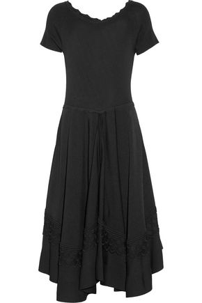 ANTONIO BERARDI Macramé lace-trimmed stretch-knit dress