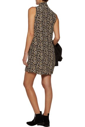EQUIPMENT FEMME Phaedra floral-print washed-silk mini dress