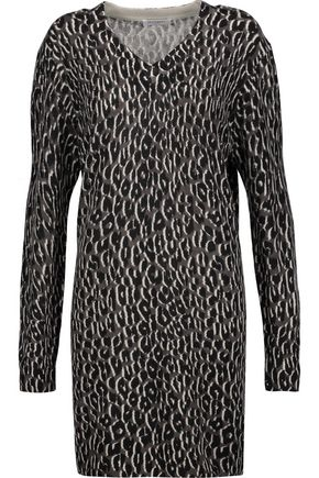 EQUIPMENT FEMME Eunice printed cashmere sweater dress
