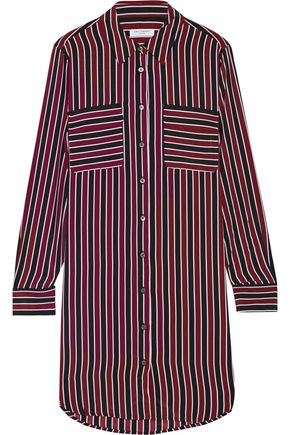 EQUIPMENT FEMME Slim Signature striped washed-silk shirt dress