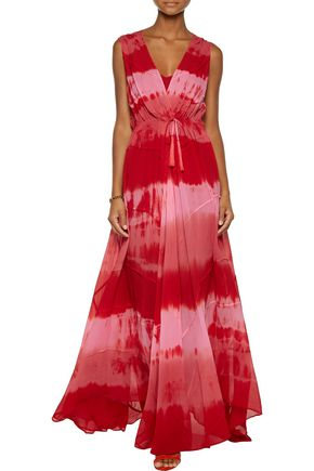 HAUTE HIPPIE Wrap-effect silk-georgette gown