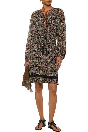 TALITHA Dia pleated printed silk-georgette dress