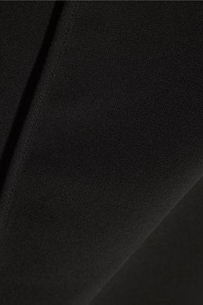 HALSTON HERITAGE Asymmetric wrap-effect crepe mini dress