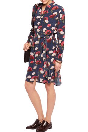 EQUIPMENT Delany printed washed-silk dress