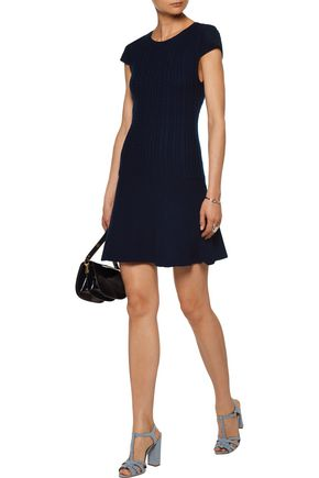 ALICE + OLIVIA Dacey cable-knit wool mini dress