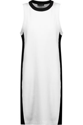 RAG & BONE Two-tone cotton mini dress