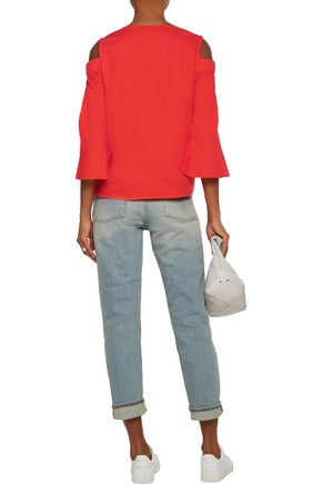 W118 by WALTER BAKER Haley cold-shoulder cotton-poplin top