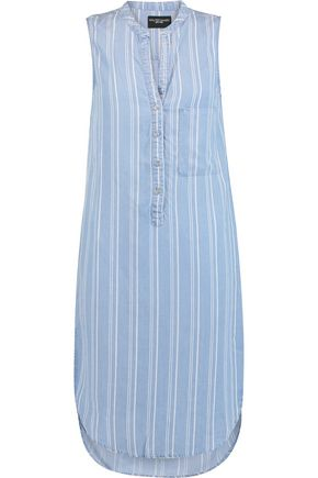 W118 by WALTER BAKER Sky striped chambray dress