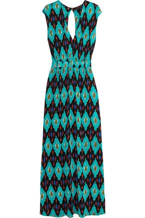 VIX Rumis Samanta printed stretch-ponte maxi dress