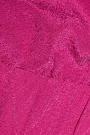 VIX Cutout washed silk-crepe mini dress