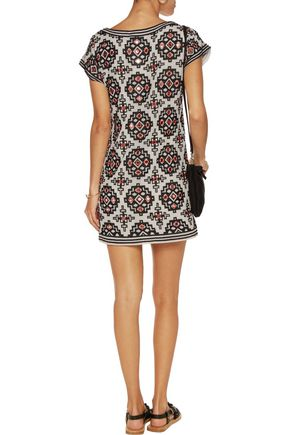ALICE + OLIVIA Lani appliquéd georgette mini dress