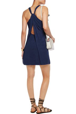 ALICE + OLIVIA Eleanora cutout crepe mini dress