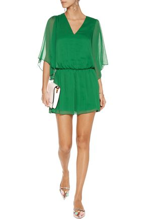 ALICE + OLIVIA Lyla chiffon mini dress