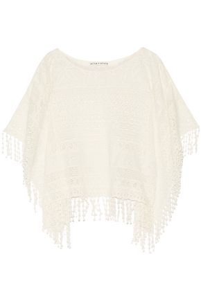 ALICE + OLIVIA Danette crocheted cotton poncho