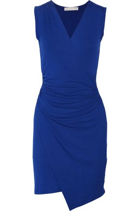 KAIN Juno wrap-effect ruched stretch-jersey dress