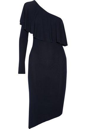 KAIN LABEL Tabitha one-shoulder ribbed stretch-modal dress