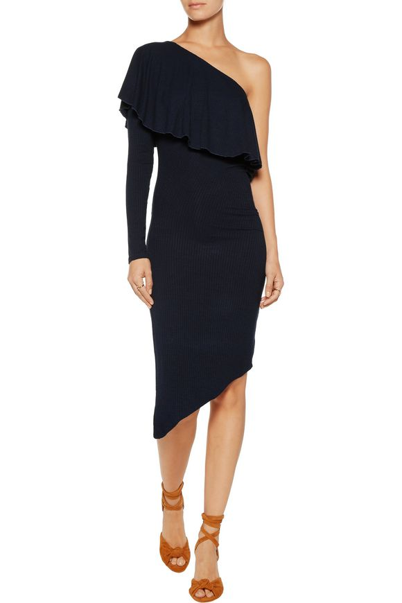 Tabitha one-shoulder ribbed stretch-modal dress | KAIN | Sale up to 70% off  | THE OUTNET