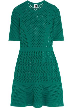 M MISSONI Broderie anglais crochet-knit mini dress