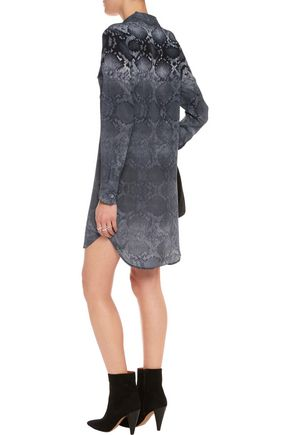 EQUIPMENT Slim Signature printed washed-silk shirt dress