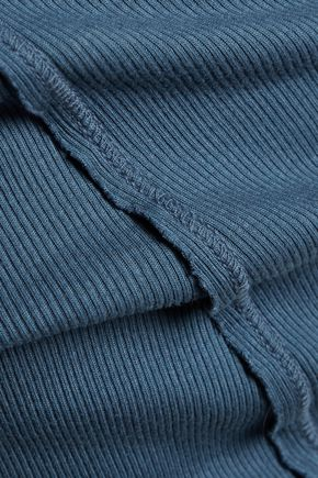 SPLENDID Ribbed Micro Modal and Supima cotton-blend jersey mini dress
