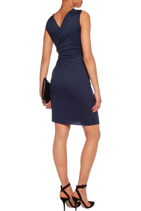 BAILEY 44 Ruched wrap-effect stretch-jersey dress