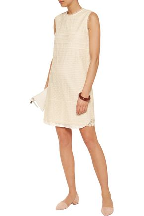 GOEN.J Guipure lace cotton mini dress