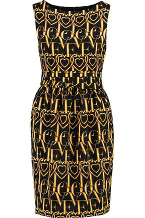 LOVE MOSCHINO Printed crepe dress