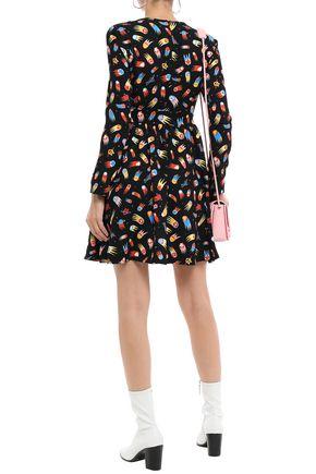 LOVE MOSCHINO Printed crepe dress