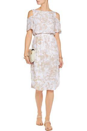 BAILEY 44 Off-the-shoulder printed crepe dress