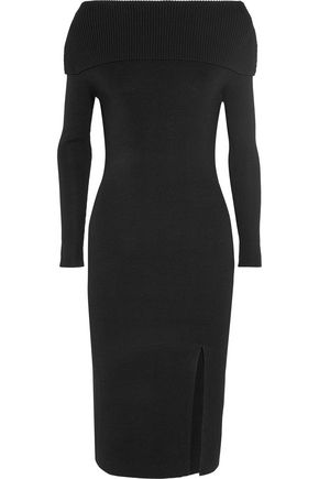 TOTÊME Kosiv off-the-shoulder ribbed-knit dress