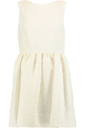 REDValentino Pleated cloqué cotton-blend mini dress