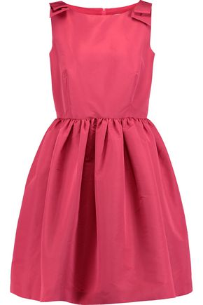 REDValentino Pleated taffeta mini dress