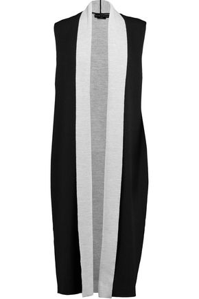 ALICE + OLIVIA Laurie draped stretch-wool vest