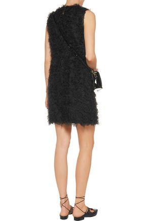 REDValentino Faux shearling mini dress