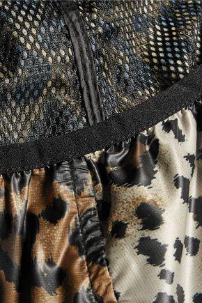 REDValentino Leopard-print shell hooded jacket