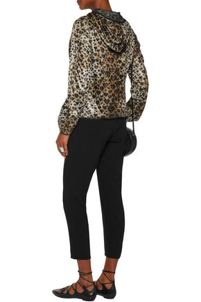 REDValentino Leopard-print shell hooded jacket