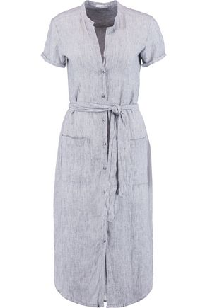 JAMES PERSE | James Perse Striped Linen Dress | Goxip