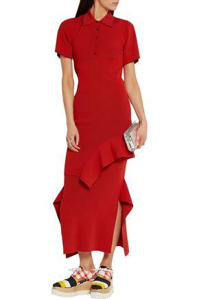 STELLA McCARTNEY Plated-knit mini dress