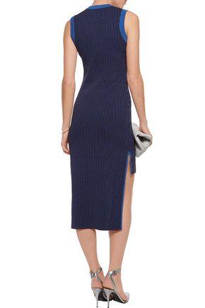 ACNE STUDIOS Jolie striped stretch-knit dress