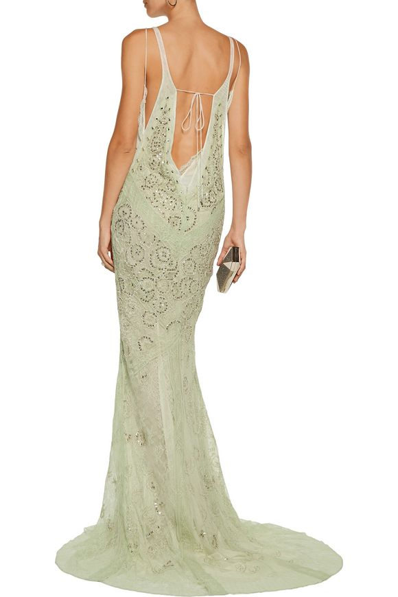 Embellished corded lace gown | ROBERTO CAVALLI | Sale up to 70% off | THE  OUTNET