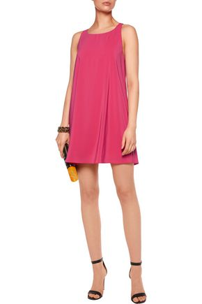 ALICE + OLIVIA Estelle crepe de chine mini dress