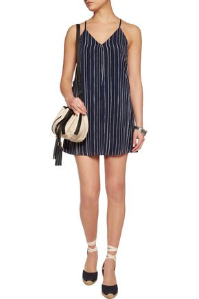 ALICE + OLIVIA Fierra striped silk-chiffon mini dress