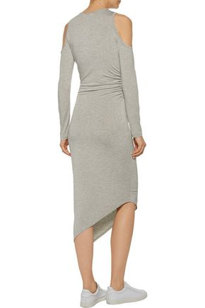 KAIN LABEL Michelle cold-shoulder striped stretch-jersey dress